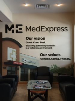 MedExpress Interior Signs