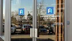 Finance of America Mortgage Door Vinyl