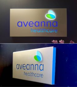 Aveanna Healthcare Routed Sign Interior