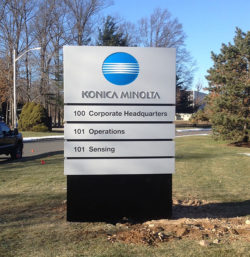 Konica Minolta Routed Sign